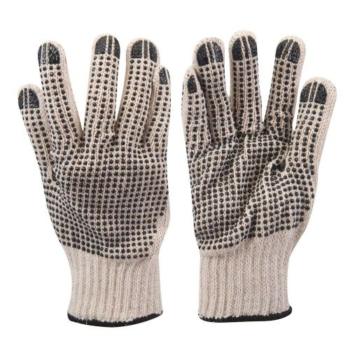 Silverline 783131 Double Sided Dot Safety Work Gloves Large